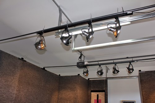 Garage track lighting full size of kitchenpatriot track lighting garage track lighting rods bracing top of booth with lighting attached i know this aloadofball