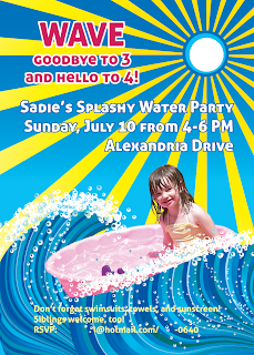 Custom Printables Sadie's splashy fourth birthday