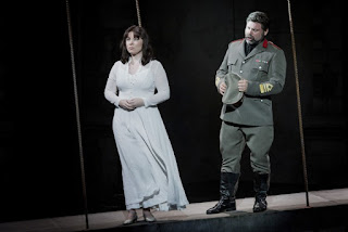 Natalya Romaniw & Simon Thorpe - Montemezzi's L'amore dei tre Re - Opera Holland Park - photo Robert Workman