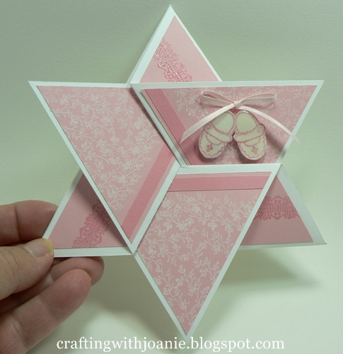 Crafting with joanie how to make a star fold card for Craft supplies for card making