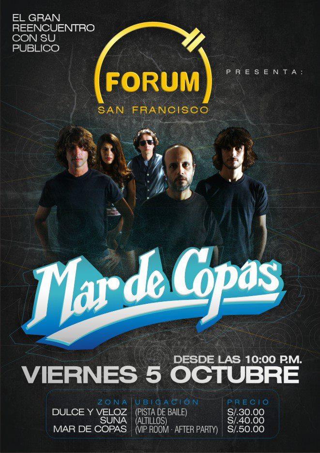 Mar de copas en la Forum (5 oct)