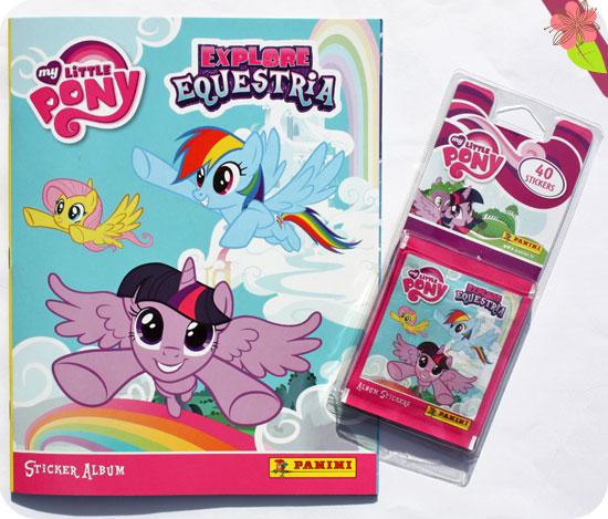 "Sticker Album Panini ""Explore Equestria"" My Little Pony"