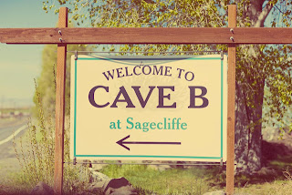Cave B at Sagecliffe sign