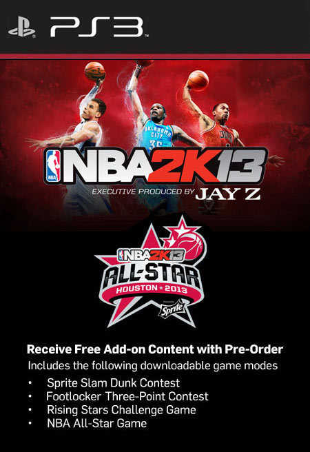 Free NBA 2K13 All-Star Weekend DLC Code (PS3)