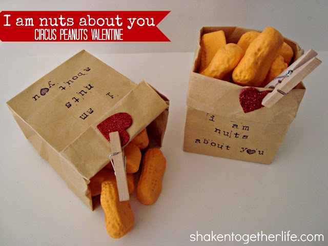 &quot;I am nuts about you&quot; circus peanuts Valentine from www.shakentogetherlife.com