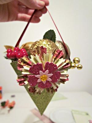 DIY Christmas ornaments, Paper ornaments, Glitter ornaments, glitter, DIY Cone, Christmas crafts