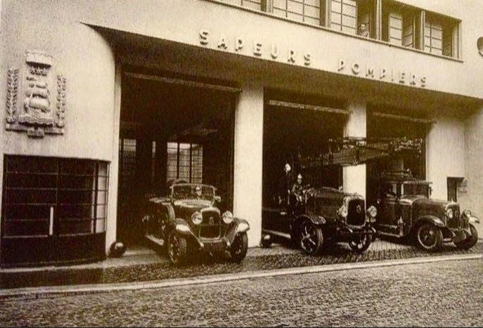 Caserne de pompiers à Paris 1936