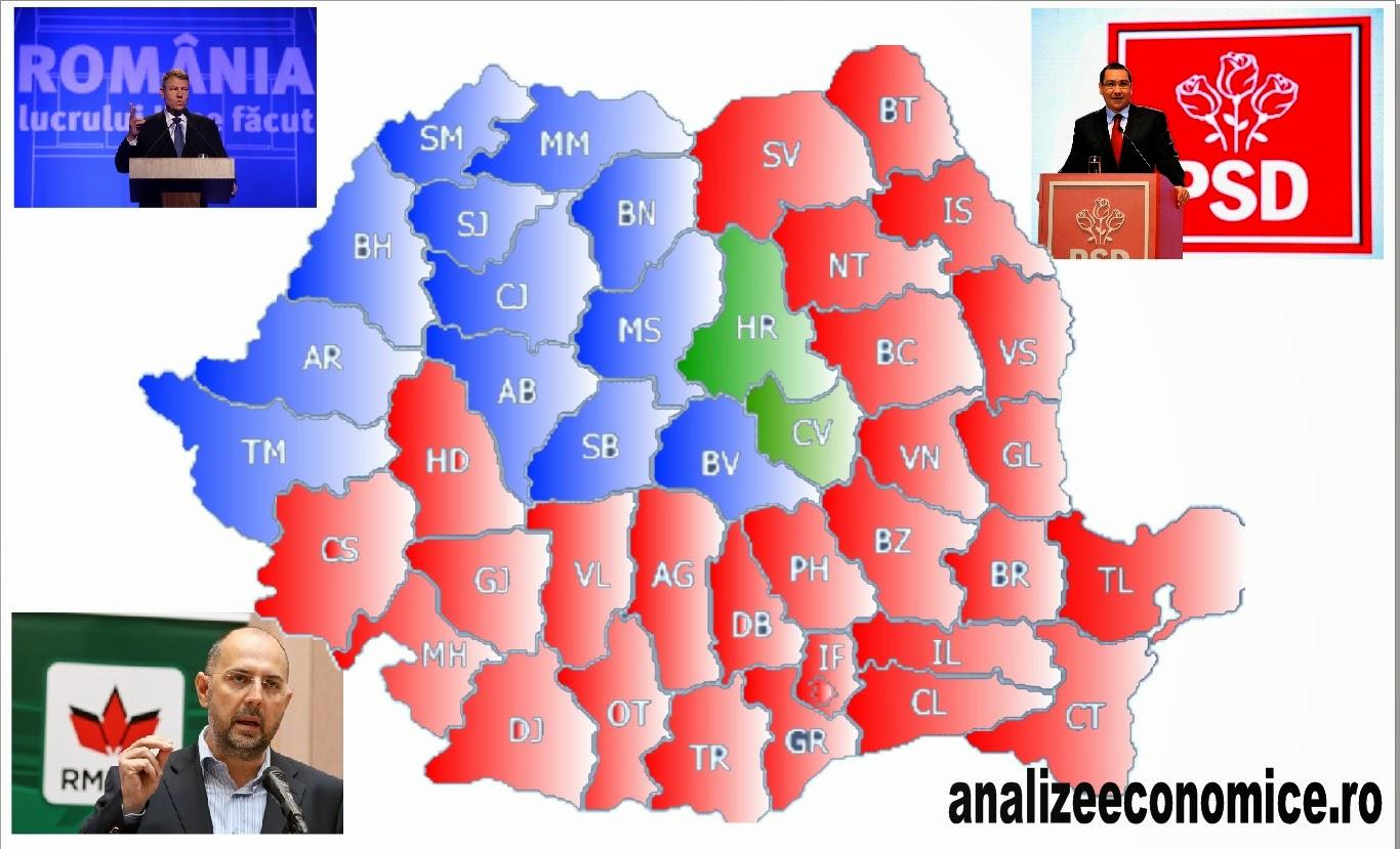 Cum au votat județele în primul tur al alegerilor prezidențiale