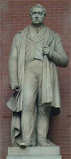 تمثال جورج ستيفنسون في متحف السكة الحديد القومي في نيورك