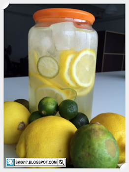 Lemon, Lime and Calamansi Infused Solarized Water