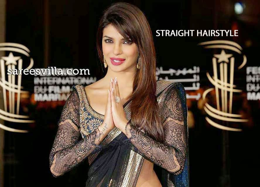Priyanka Chopra with Straight Hair