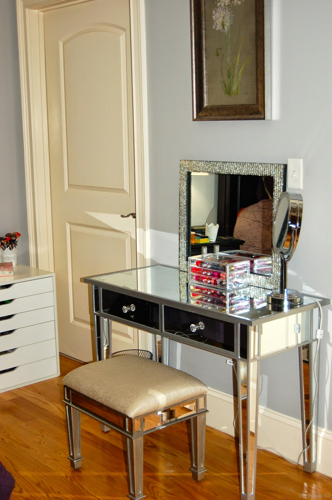 Makeup Collection  Storage 2015  Part 2 Mirrored Vanity  The