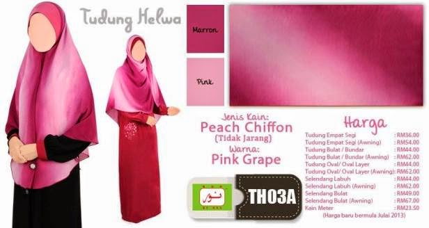 pink grape tudung helwa
