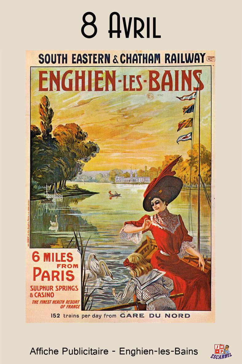 Imagerie du chemin de fer enghien les bains affiche for Salle des ventes enghien les bains