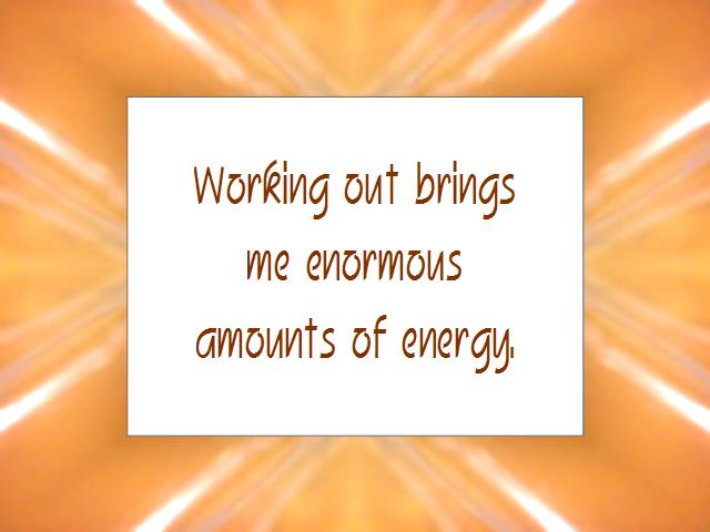 ENERGY affirmation
