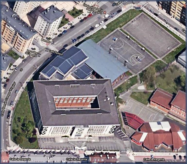 """IES """"La Ería""""  Satélite Google Maps"""