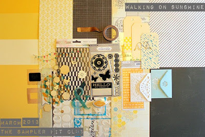 The Sampler_Walking On Sunshine_Spring Scrapbook Kit