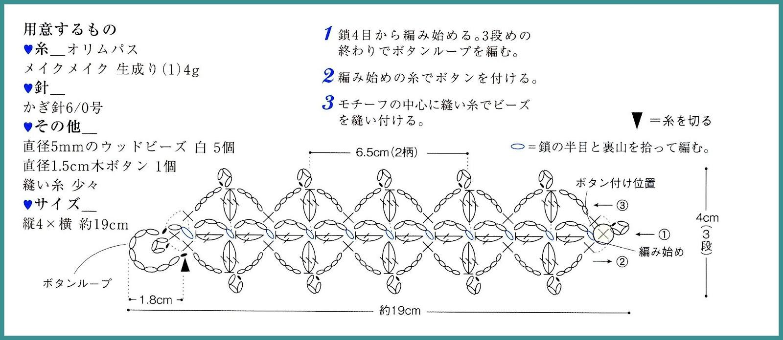 Hermosa Patrón De Crochet Libre Pulsera Brazalete Componente - Coser ...