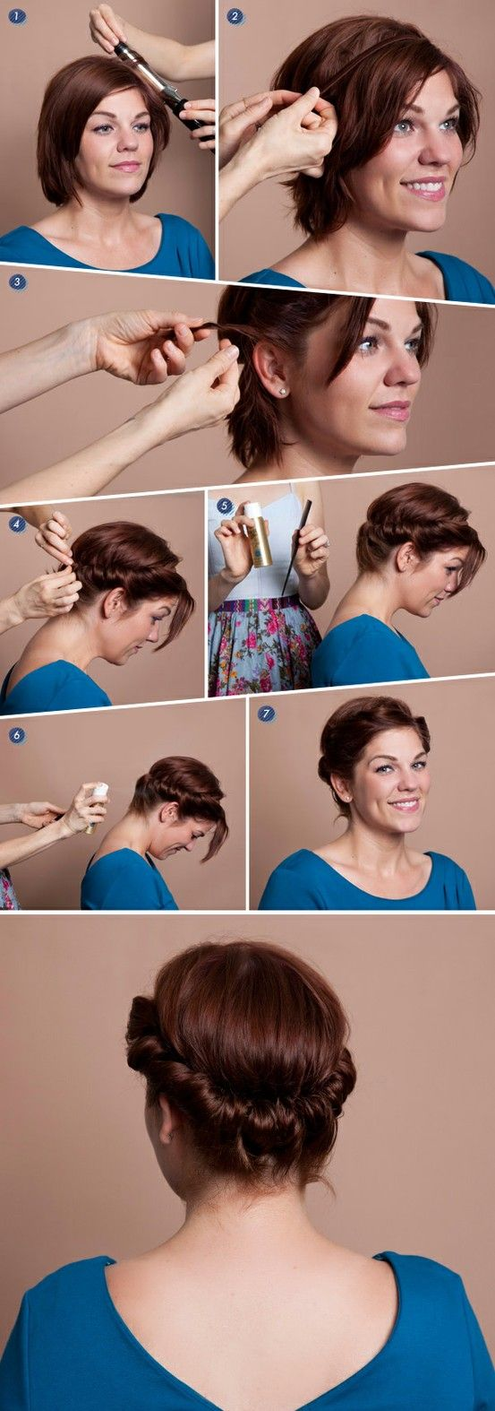 Красивая укладка своими руками для коротких волос