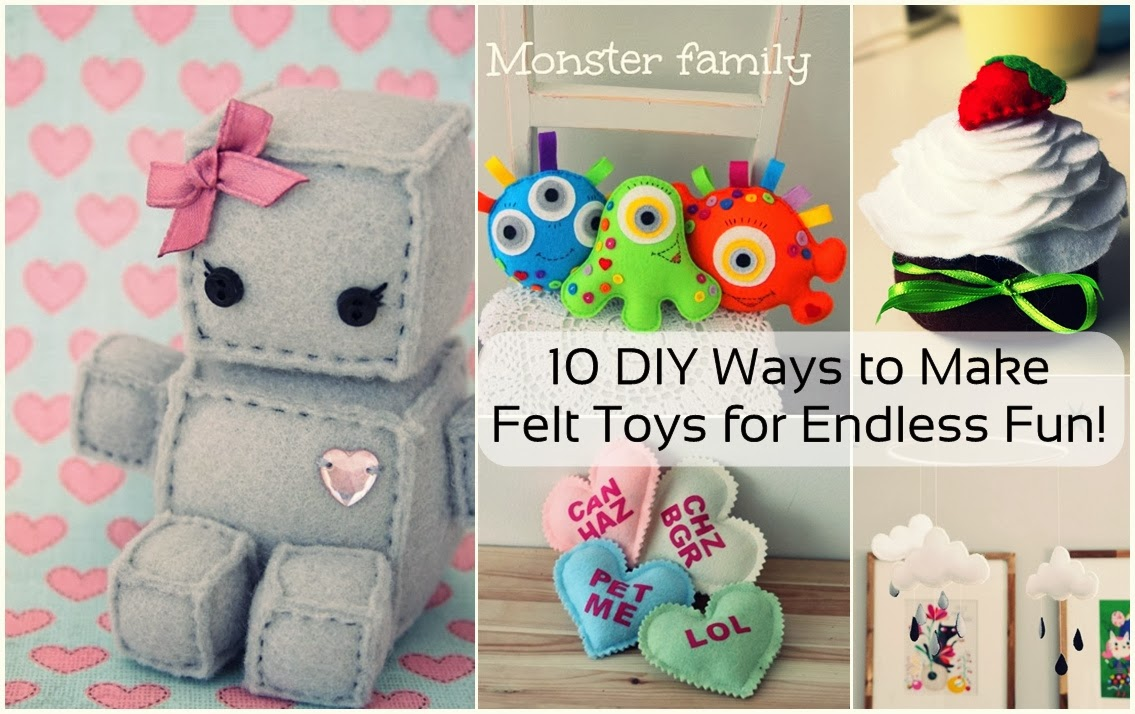 10 DIY Ways to Make Felt Toys for Endless Fun