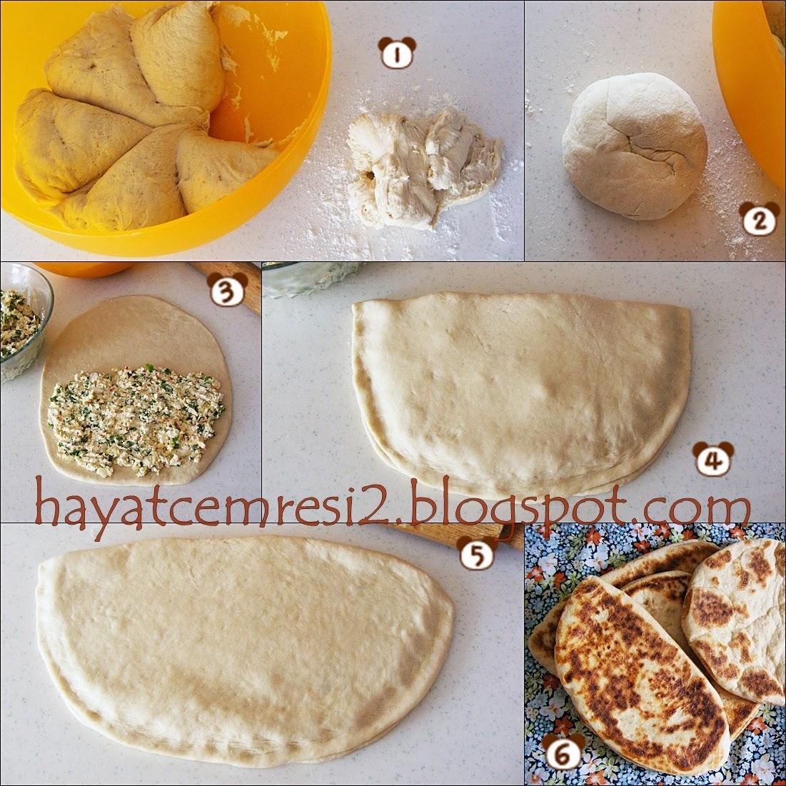cokelekli peynirli bazlama ekmek 3
