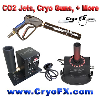 Co2 Jets, Cryo Guns, Cryo Jets at www.cryofx.com