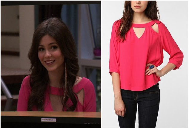 Victorious: Season 3 Episode 10 and 11 Tori's Pink Cut Out Blouse