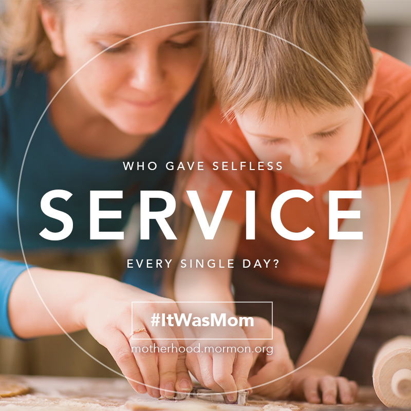 Who Gave Selfless Service? #ItWasMom
