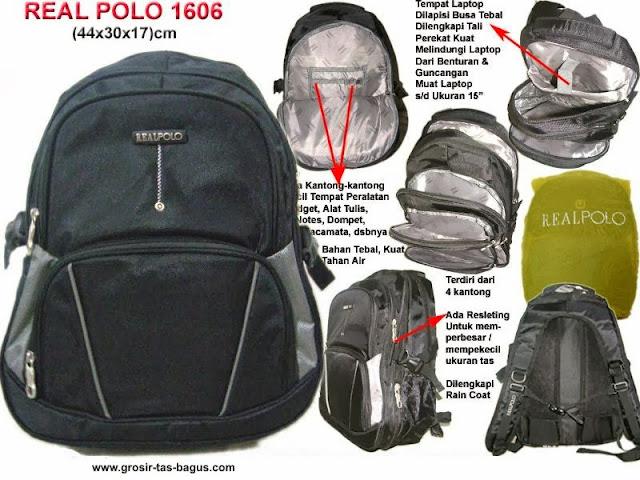 Tas Ransel Laptop Pria Murah dan Bagus Real Polo 1606
