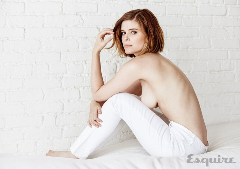 Kate Mara goes topless for Esquire Magazine shoot