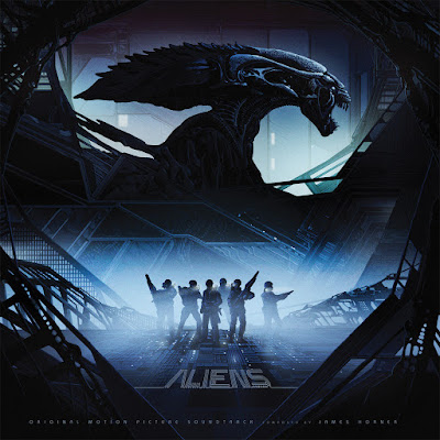 Aliens Original Motion Picture Soundtrack Vinyl Record Cover Artwork by Kilian Eng x Mondo