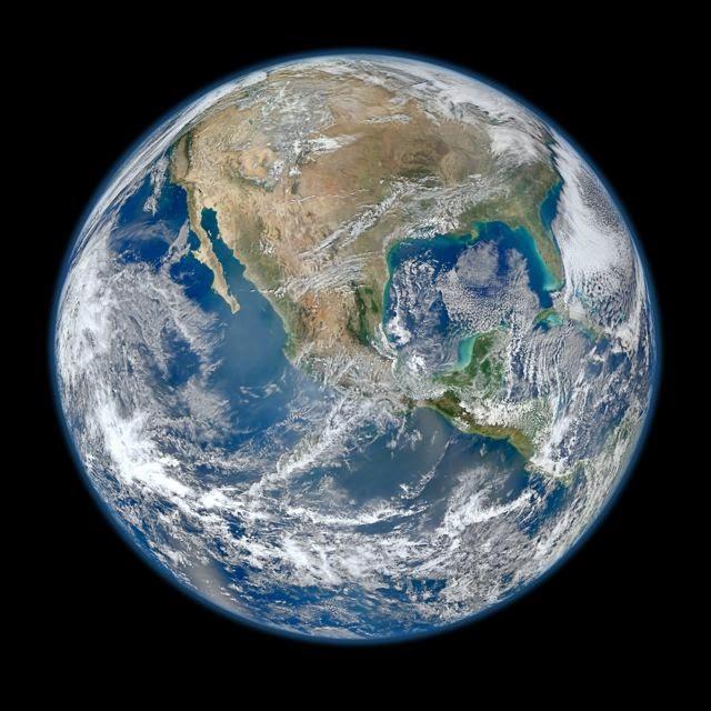 composite of earth, north america