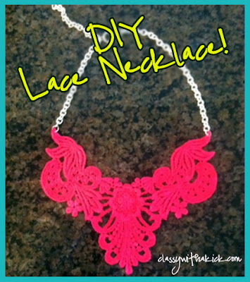 Neon Lace Bib Necklace