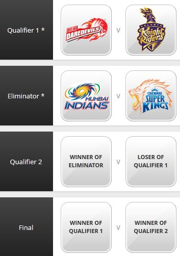 IPL 5 PLAYOFF MATCHES