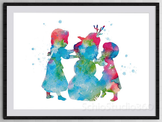 Disney Frozen watercolor