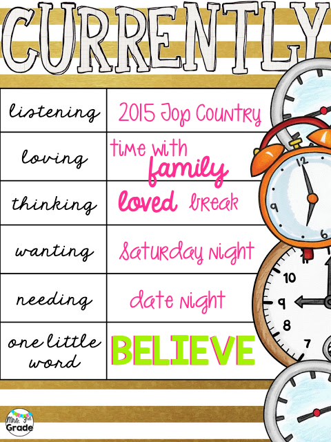 January 2016 Currently - All about BELIEVE this year!!