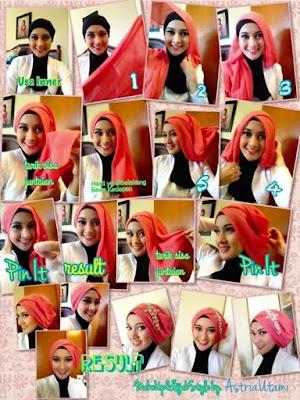 hijab dua warna pesta