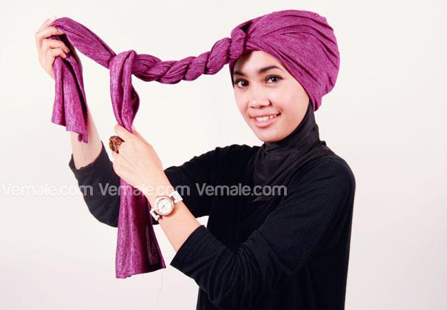 Cara Memakai Hijab Turban Untuk Si Tomboy Yang Trendy