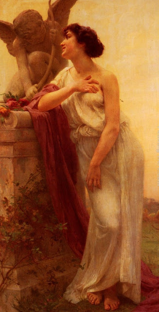 Confidence,greek painting,Guillaume Seignac