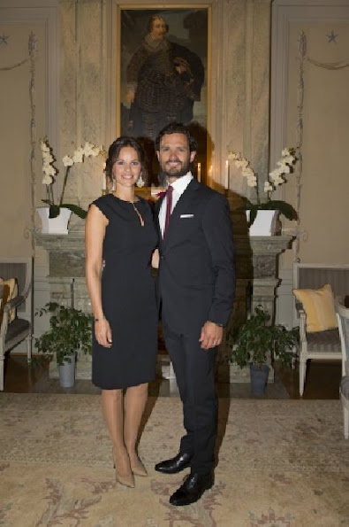 Princess Sofia and Prince Carl Philip, Governor Kenneth Johansson and his wife Viola- Duke and Duchess of Värmland