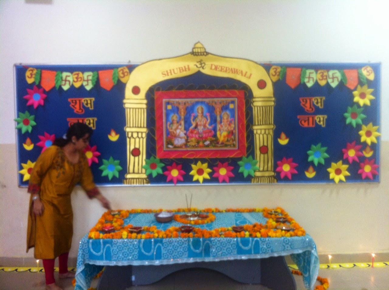 Art ,Craft ideas and bulletin boards for elementary schools: Diwali ... for diwali decoration ideas for school on board  110zmd