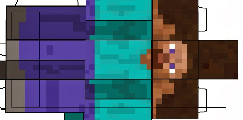 Minecraft Steve Skin Layout SteveSteve Minecraft Template