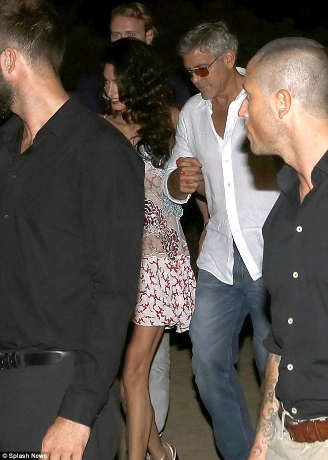 amal clooney george clooney ibiza august 22 2015