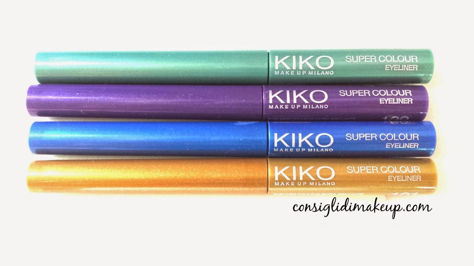 kiko eyeliner colorati super colour review