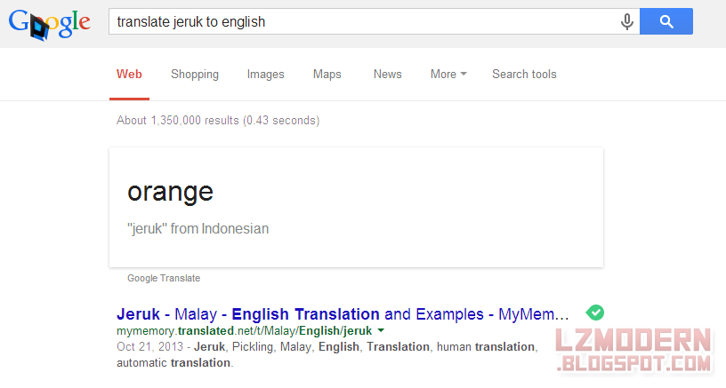 Terjemahan Cepat / Quick Translation.