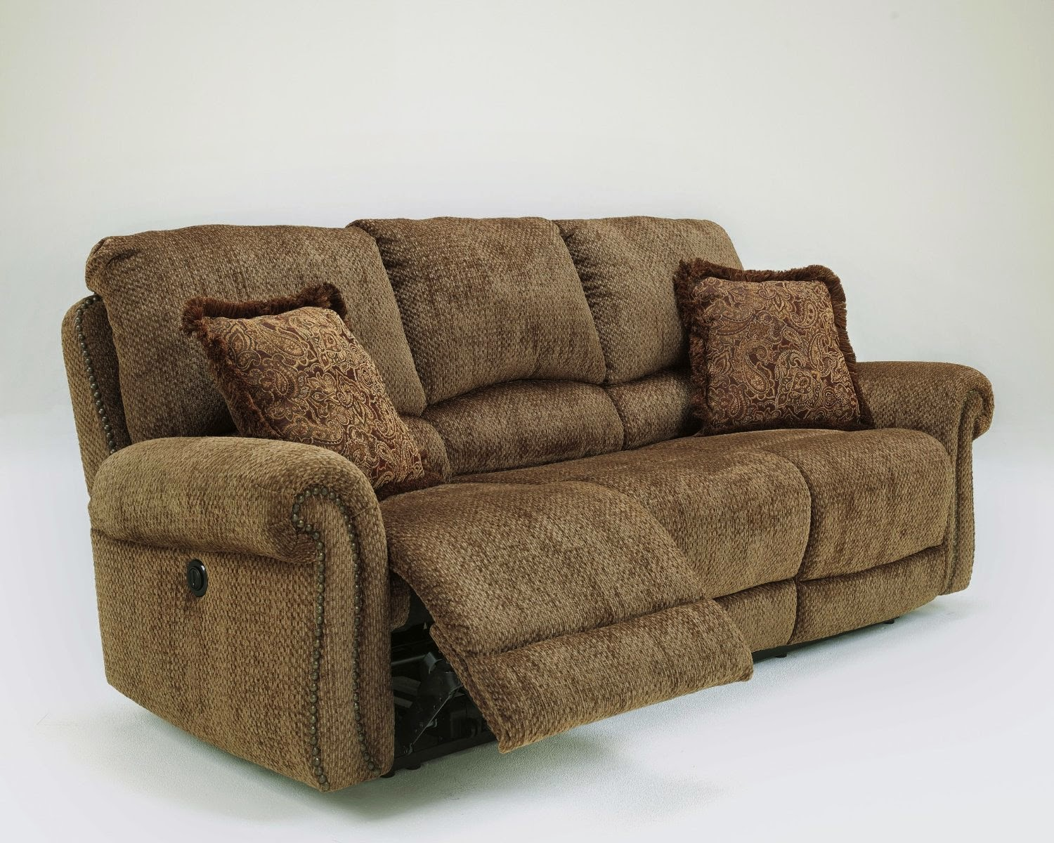 Chenille Reclining Sofa 2 Piece Reclining Sofa Set In Chianti Color Chenille Fabric Thesofa