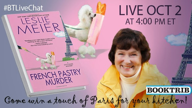 http://booktrib.com/2014/09/upcoming-live-chat-leslie-meier-and-french-pastry-murder/