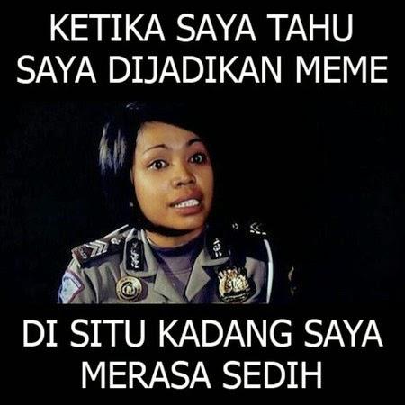 Komentar Brigadir Dewi Tentang Meme-nya Yang Sedang Hits