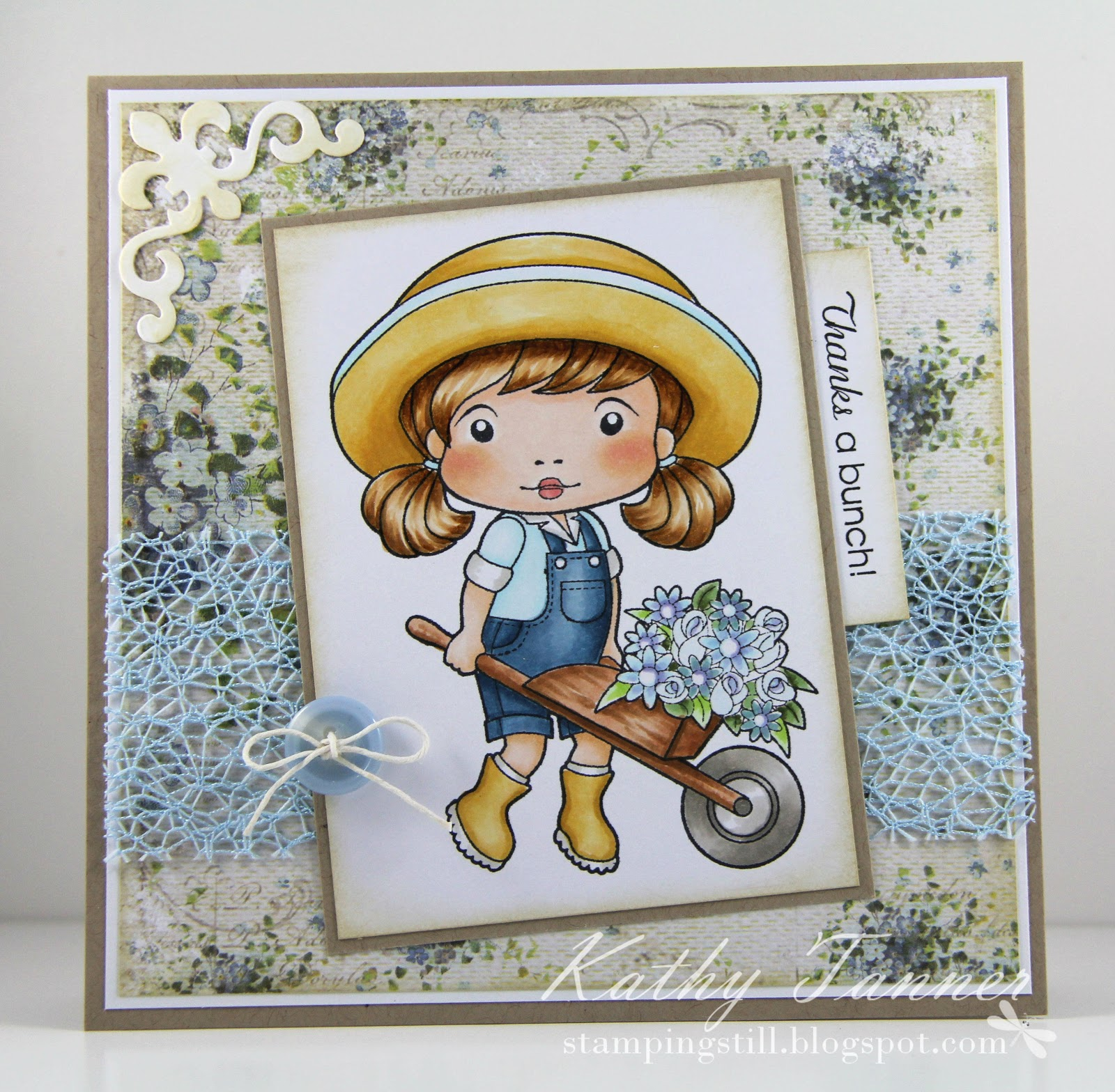 wheelbarrow marci, la la land crafts, fleur de lis accents spellbinders