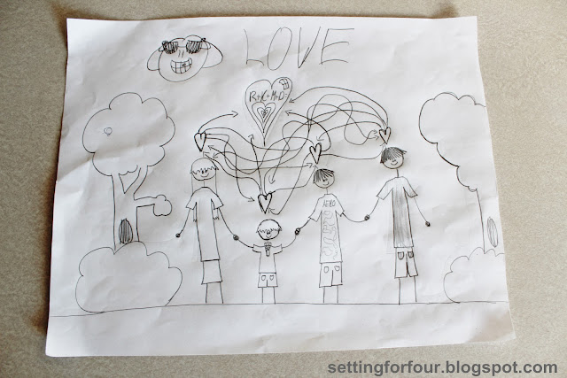 Kid's Art from Setting for Four #kid #children #child #art #activity #craft